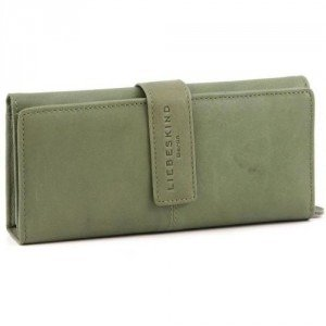 Liebeskind Pull Up Leather Leonie Geldbörse Damen Leder olivgruen 19,5 cm