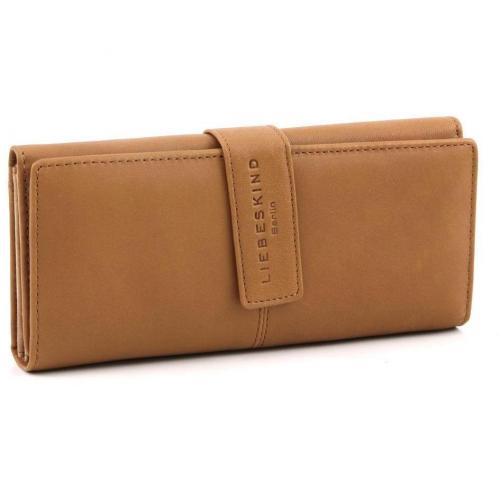 Liebeskind Pull Up Leather Leonie Geldbörse Damen Leder whisky 19,5 cm