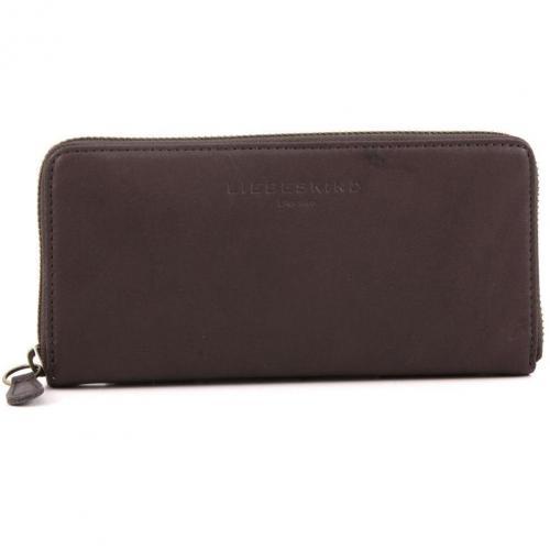 Liebeskind Pull Up Leather Sally Geldbörse Damen dunkelbraun 18,5 cm