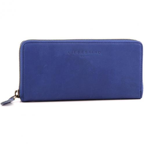 Liebeskind Pull Up Leather Sally Geldbörse Damen Leder blau 18,5 cm