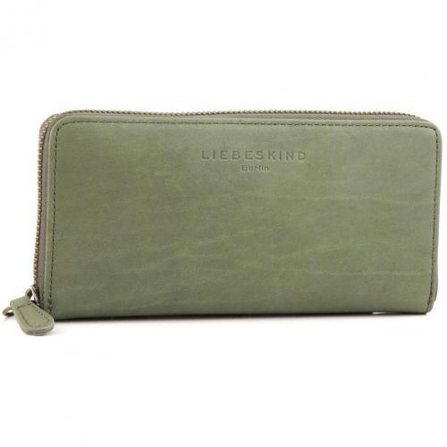 Liebeskind Pull Up Leather Sally Geldbörse Damen Leder olivgruen 18,5 cm
