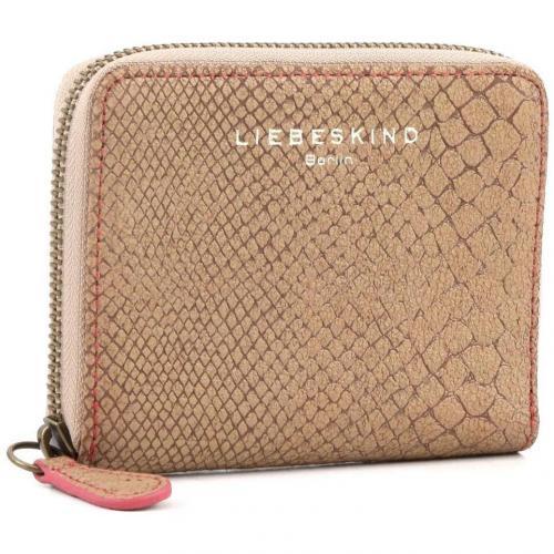 Liebeskind Snake Conny Geldbörse Damen Leder beige 12,5 cm