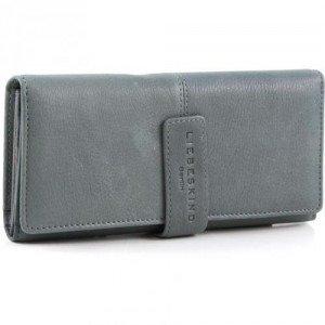 Liebeskind Vintage Leonie Geldbörse Damen Leder grau 19 cm