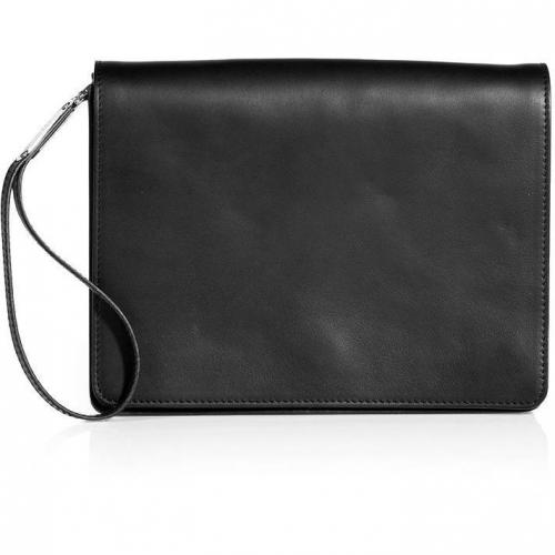 Maison Martin Margiela Black Leather Clutch