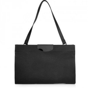 Maison Martin Margiela Black Leather Shoulder Bag