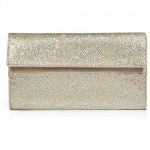 Maison Martin Margiela Cream/Silver Opalescent Leather Clutch