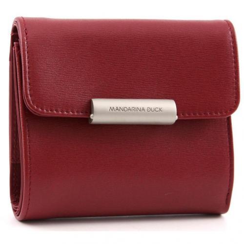 Mandarina Duck Hera Business Geldbörse Damen Leder rot 11,5 cm