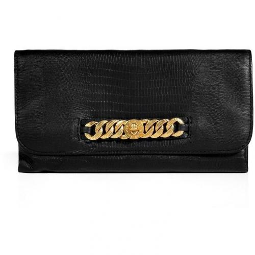 Marc by Marc Jacobs Black Embossed Leather Katie Bracelet Clutch