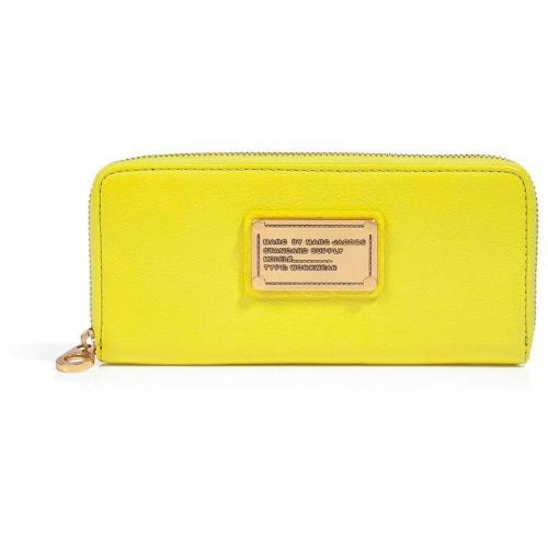 Marc by Marc Jacobs Citron Leather Classic Q Slim Zip Around Wallet