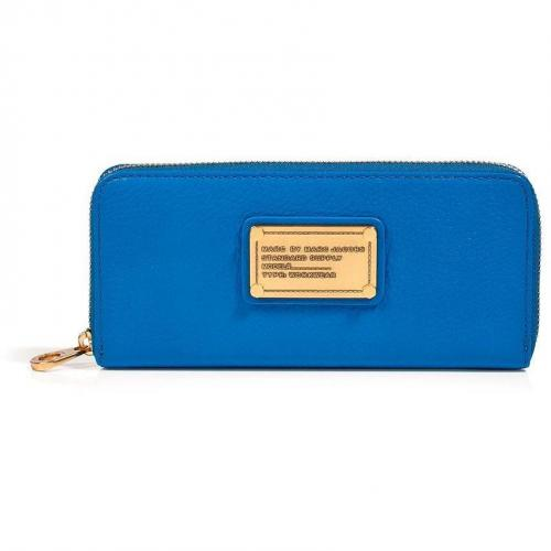 Marc by Marc Jacobs Electric Blue Lemonade Leather Classic Q Slim Zip Around Wallet