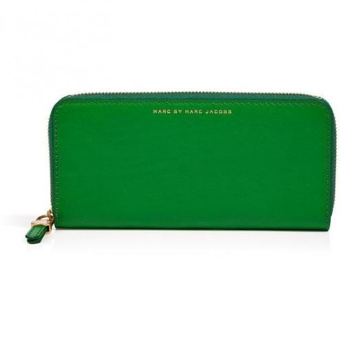 Marc by Marc Jacobs Fresh Grass Leather Slim Zip Around Wallet