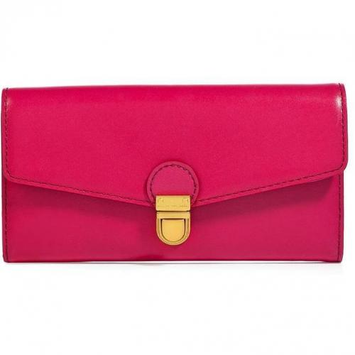 Marc by Marc Jacobs Fuchsia Leather New Long Trifold Wallet