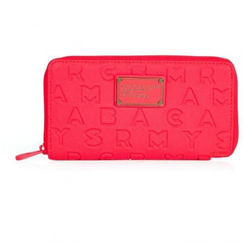 Marc by Marc Jacobs Highlighter Flamingo Dreamy Logo Slim Zippy Wallet
