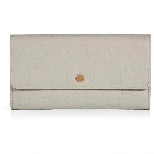Marc by Marc Jacobs Oyster Leather Dreamy Logo New Long Trifold Wallet