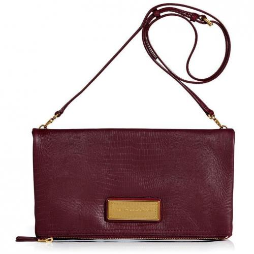 Marc by Marc Jacobs Pinot Embossed Leather Foldover Clutch