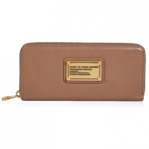 Marc by Marc Jacobs Praline Leather Classic Q Slim Zip Around Wallet