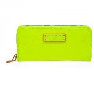 Marc by Marc Jacobs Safety Yellow Slim Zip Around Leather Wallet