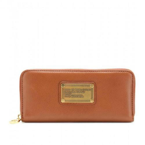Marc by Marc Jacobs Slim Zip Around Lederportemonnaie brown