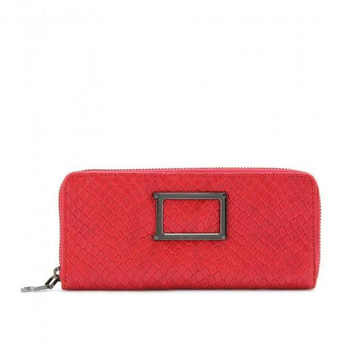 Marc by Marc Jacobs Slim Zip Around Lederportemonnaie red