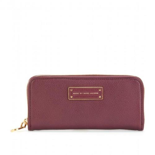 Marc by Marc Jacobs Slim Zip Around Lederportemonnaie violett