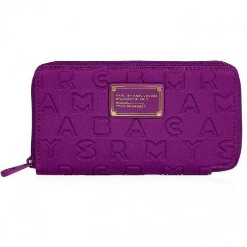 Marc by Marc Jacobs Violet Dreamy Logo Slim Zippy Wallet
