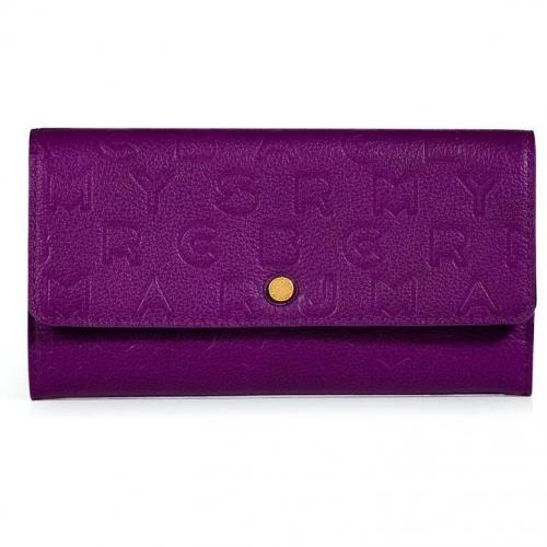 Marc by Marc Jacobs Violet Leather New Long Trifold Wallet
