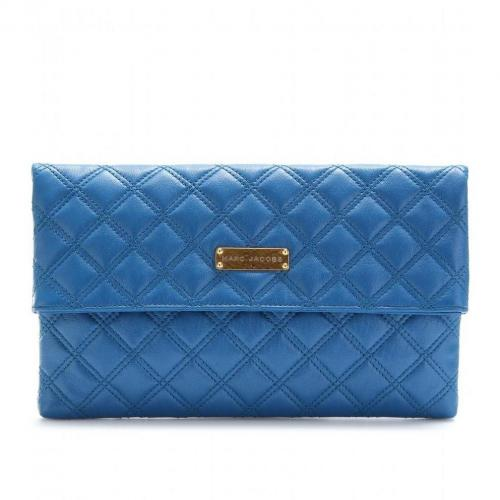 Marc Jacobs Large Eugenie Clutch blue