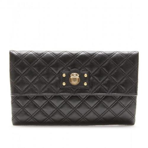 Marc Jacobs Large Eugenie Lederclutch black