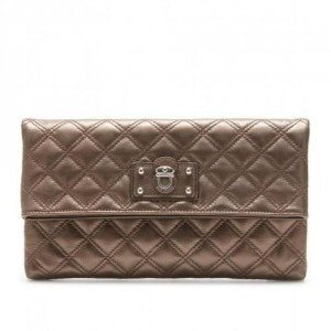 Marc Jacobs Large Eugenie Lederclutch bronze
