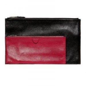 Marc Jacobs Multi Pouch Zweifarbene Leder Brieftasche