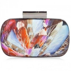 Matthew Williamson Rust Multicolor Round Hard Clutch
