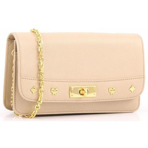 MCM First Lady Clutch beige 19,5 cm
