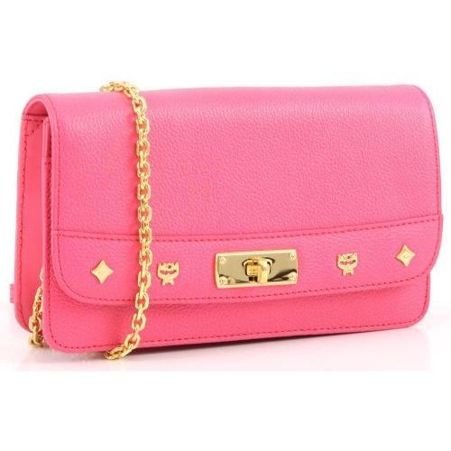 MCM First Lady Clutch Leder pink 19,5 cm