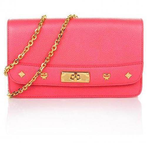 MCM First Lady Cross Body Wallet Large Pink