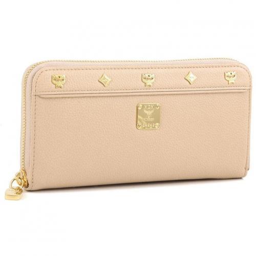 MCM First Lady Geldbörse Damen Leder beige 19 cm