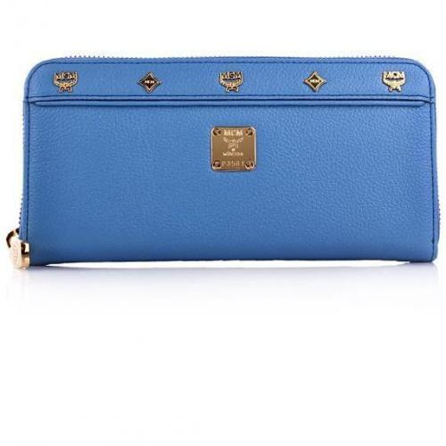 MCM First Lady Zipped Wallet Large Blue