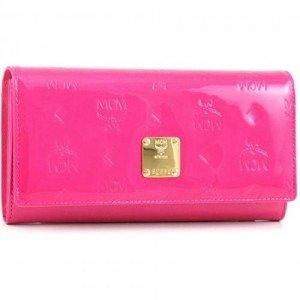 MCM Ivana Patent Geldbörse Damen pink 17,5 cm