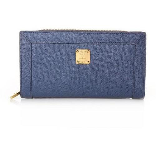 MCM Nuovo L Zipped Wallet Large Navy