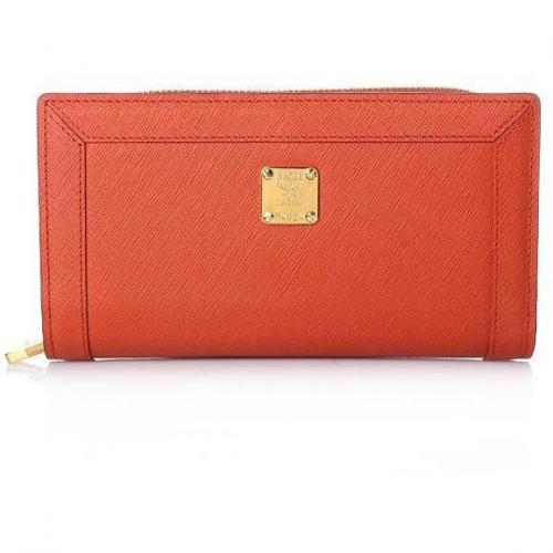 MCM Nuovo L Zipped Wallet Large Orange