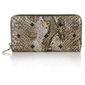 MCM Shopper Project Zip Wallet Large 3 Grey