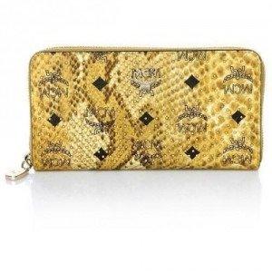 MCM Shopper Project Zip Wallet Large 3 Yellow