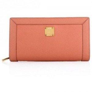 MCM Urban Styler Zipped Wallet Large Light Pink