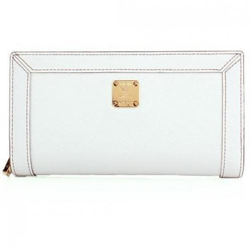 MCM Urban Styler Zipped Wallet Large White