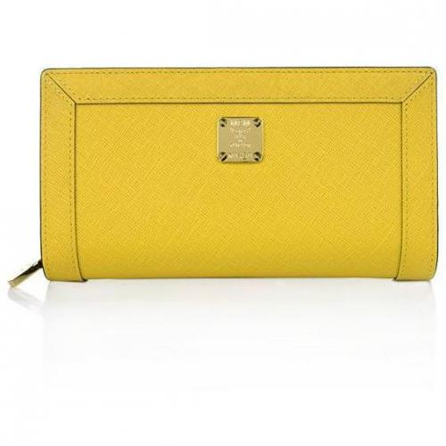 MCM Urban Styler Zipped Wallet Large Yellow