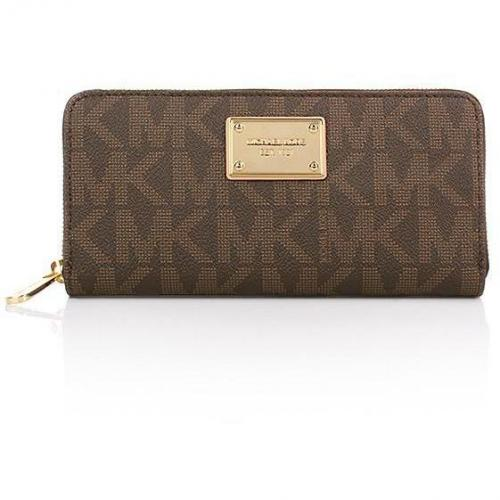MICHAEL Michael Kors Jet Set ZA Continental NS Brown