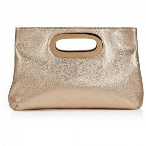 Michael Michael Kors Pale Gold Leather Berkley Clutch