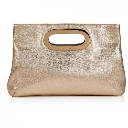 Michael Michael Kors Pale Gold Leather Berkley Clutch