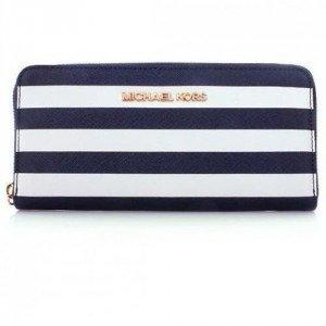 MICHAEL Michael Kors Saffiano Extra Stripes Wallet Navy
