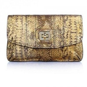 Milly Alexa Envelope Clutch Gold