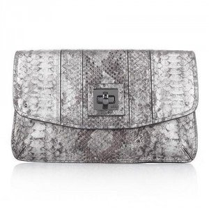 Milly Alexa Envelope Clutch Gunmetal